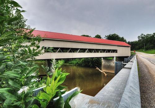 historicpreservation mechanicsvilleroadbridge nikon d300 tokinaatx124prodxii geotagged hdr photomatixpro coveredbridge bridge ashtabulacountyohio ohio travel ohiotravel ruralohio