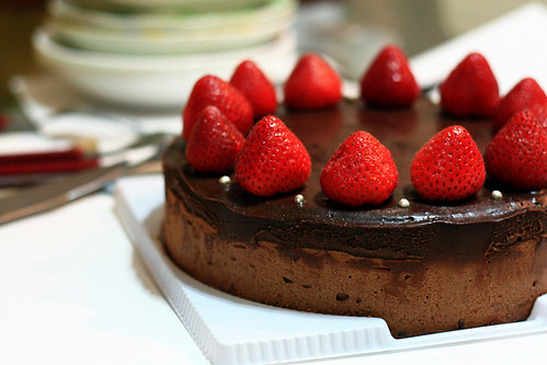 Chocolate Espresso Mousse Cake