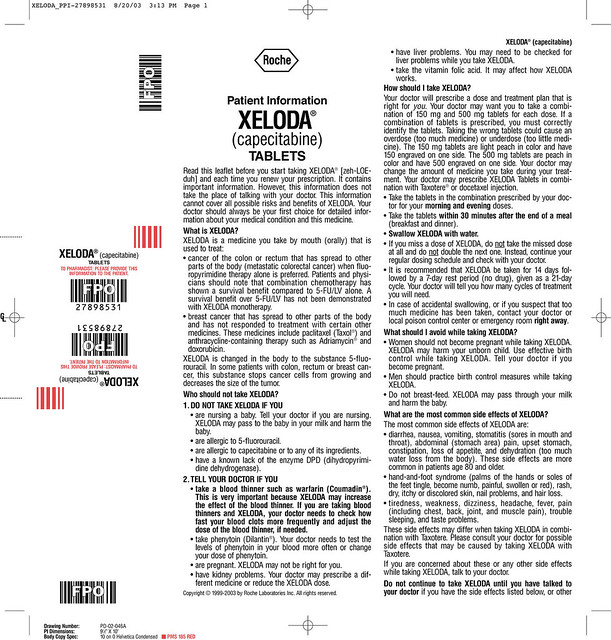 Xeloda Patient Package Insert