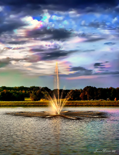 sunset sky water fountain clouds northcarolina hdr childressvineyards lexingtonnc supershot platinumheartaward newgoldenseal jeanetterunyon