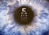 Eye chart in San Jose Tapestry Arts Festival by elefunt_eye