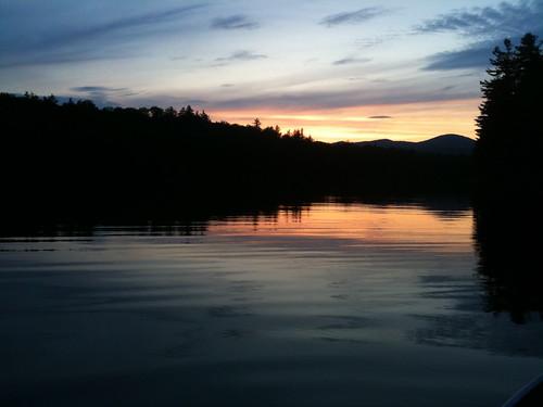 new york sunset lake adirondacks benson vacations laplandlake