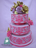 W9086 - fuchsia lilac wedding cake