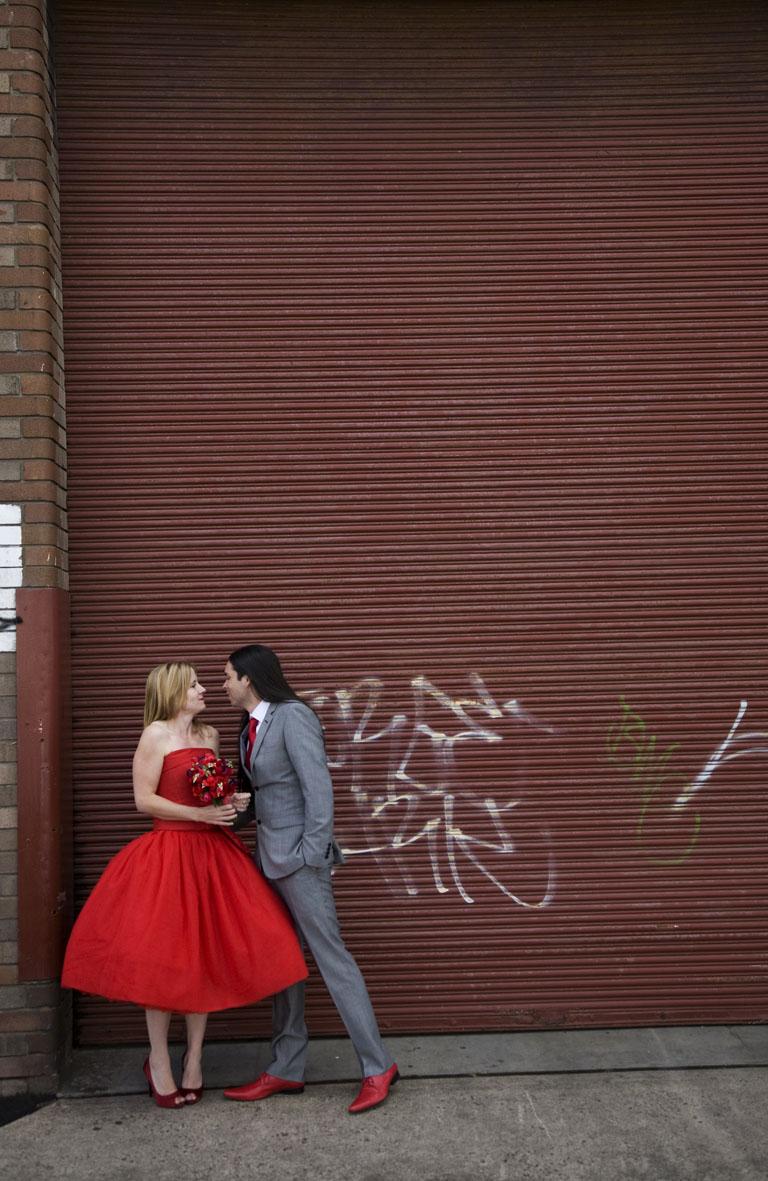 Graffiti portrait. Shaun and Clare 09/10/09