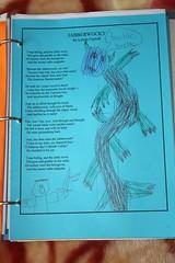 poetry notebooking Jabberwocky