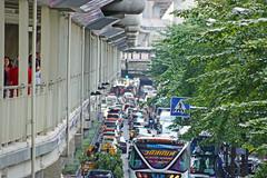 Walk way below the BTS skytrain looking towards Siam Central station