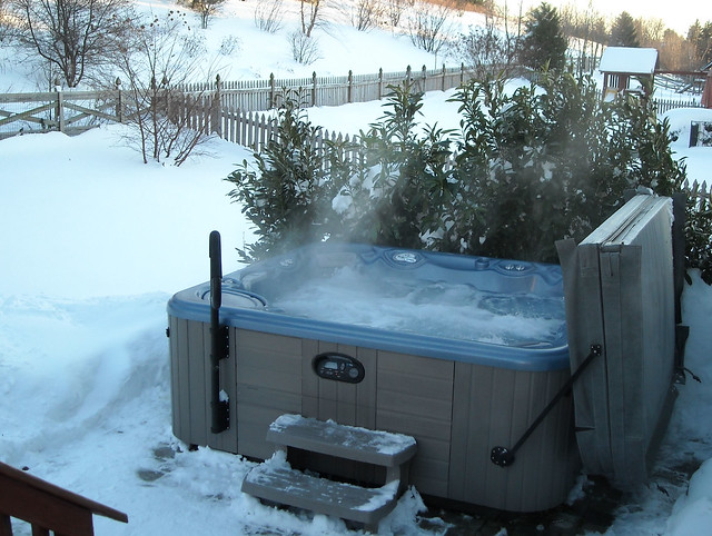 hot tub in the snow flickr photo sharing. Black Bedroom Furniture Sets. Home Design Ideas
