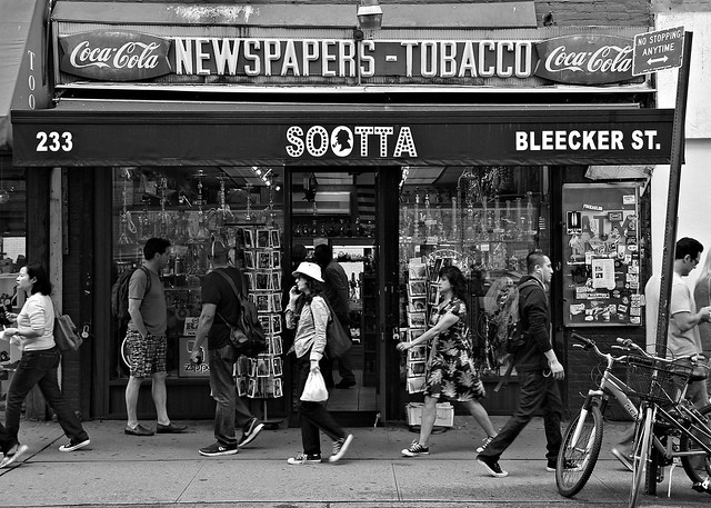 black and white on bleecker.