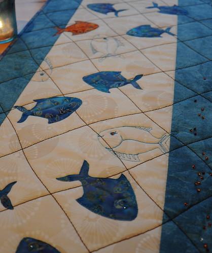 -115 løper fisk by Marits Kunstquilt