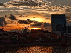 Singapore River Sunset