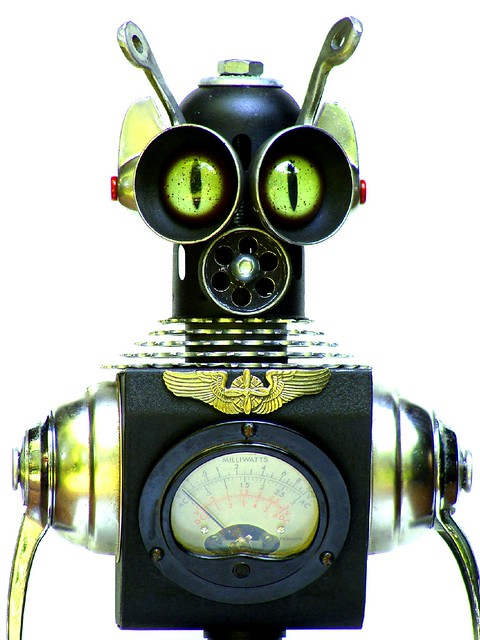 CAPTAIN zANN ~ Assemblage Robot Sculpture