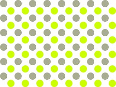 Grey and lime green spots