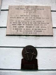 Photo of Michael Davitt stone plaque