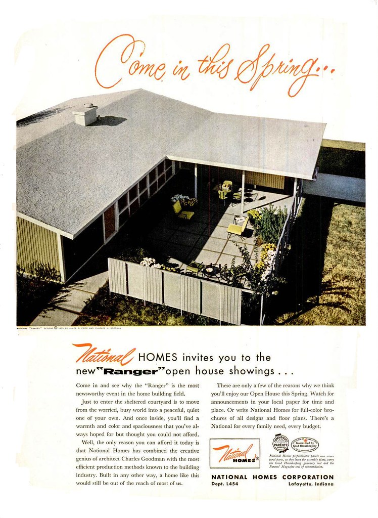 National Homes Ad Life 1954 Architect Charles Goodman Flickr
