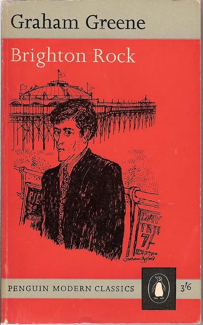 Modern Penguin Book Covers ~ Brighton rock penguin modern classics book cover
