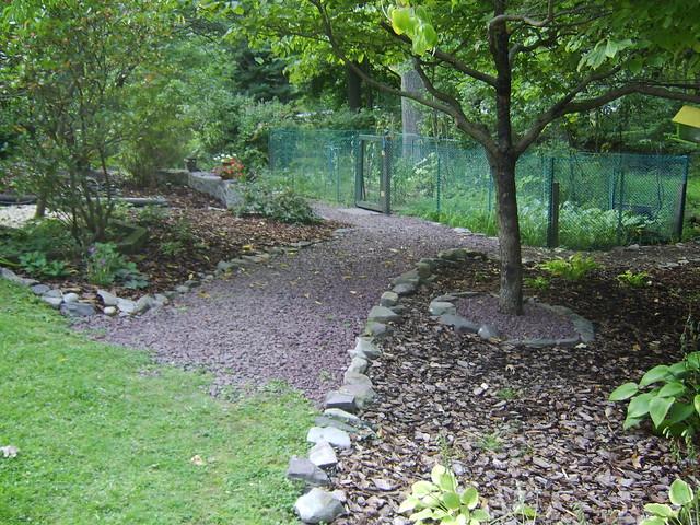 Crushed Stone Pathways : Crushed stone path to veggie garden flickr photo sharing