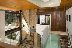 Modern House Glass and Wood Furniture
