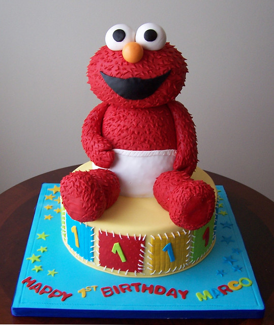 Elmo Design Birthday Cake : Elmo Cake Flickr - Photo Sharing!