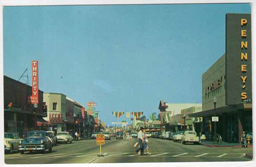 El Monte, California - Valley Blvd - 1950's