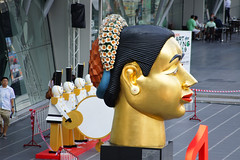 Figure head as part of the Christmas display in front of Central World in Bangkok