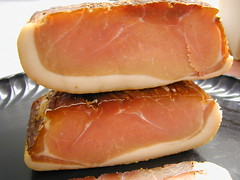 jamã³n serrano, meat, back bacon, prosciutto, food,
