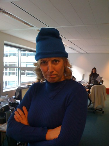 Don't you dare take your blue beanie back!