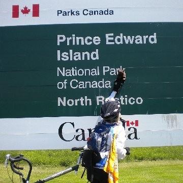 Buddy and Biking Friend in Canada