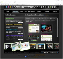 Archetype Marketing Flash Website