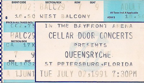 Troy's Tickets (07-02-91 Queensryche/Suicidal Tendencies @ Tampa, FL)