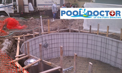 New In Ground Swimming Pool Travertine