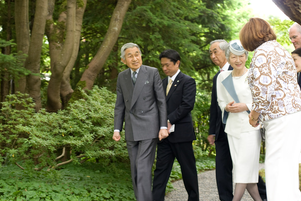 Emperor and Empress of Japan visit - Nitobe Memorial Garden UBC