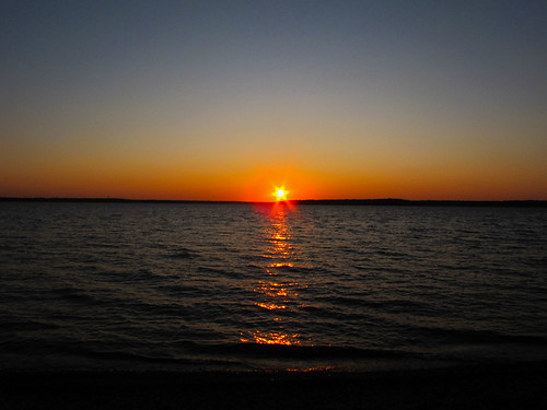 sunset sun lake kansas clintonlake