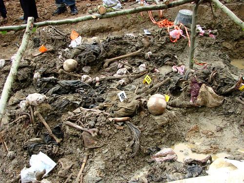 Srebrenica Massacre - Exhumed Grave of Victims - Potocari 2007