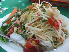 salad, vegetable, green papaya salad, food, dish, pad thai, cuisine, chow mein,