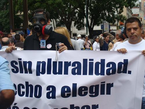 Protesta por agresión a periodistas