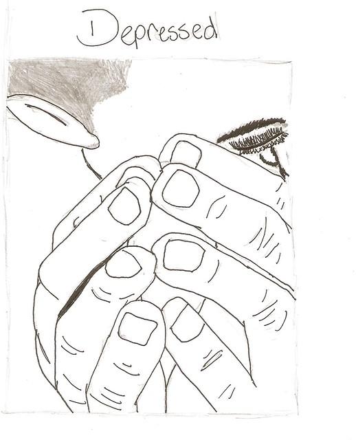Bad drawing of depress...