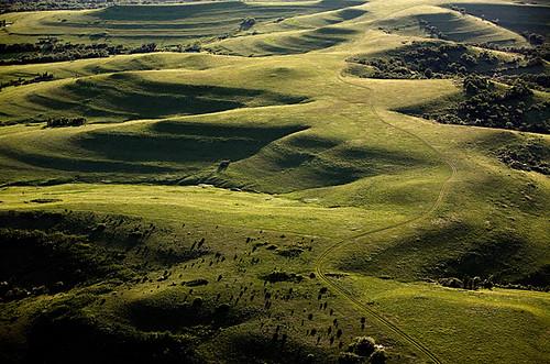 creek aerial kansas prairie flinthills konza johnhartyproject