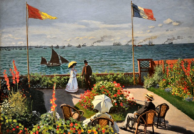 Claude monet jardin sainte adresse at new york metropolitan museum of art flickr photo - Jardin terrasse new york ...