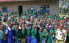 Elever udenfor Githabai Primary School