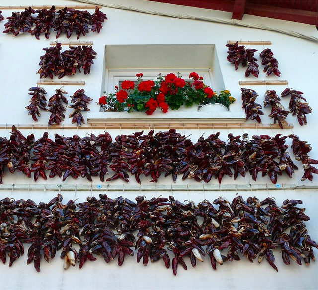Hung dried peppers