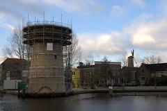 Schiedam - Molen De Kameel in aanbouw - 13 dec 2009