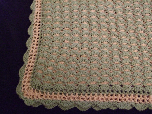 Double Sided Crochet Baby Blanket Pattern : Double sided shells baby blanket 1 Flickr - Photo Sharing!