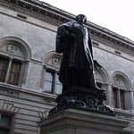statue of Henry Irving, outside the National Portrait Gallery