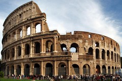 basilica(0.0), palace(0.0), baptistery(0.0), roman temple(0.0), amphitheatre(1.0), ancient roman architecture(1.0), arch(1.0), ancient history(1.0), landmark(1.0), architecture(1.0), ancient rome(1.0), plaza(1.0),