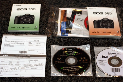 documentation & software   canon eos 50d body for sale