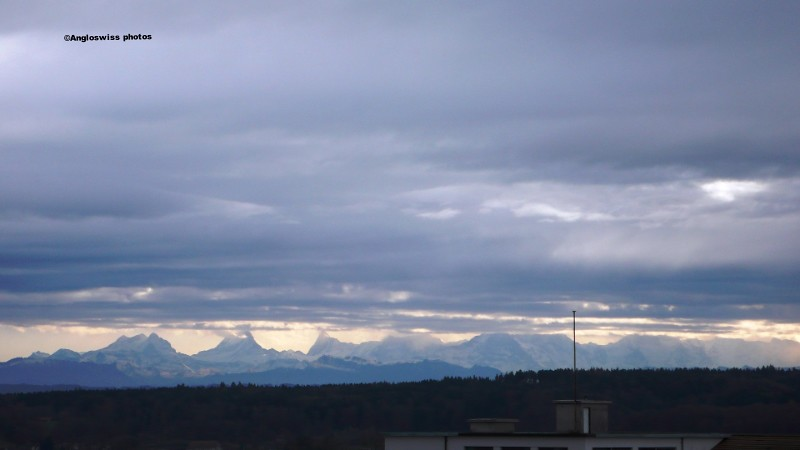 Alps from Migros, Langendorf