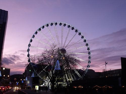 Birmingham Big Wheel at sunset