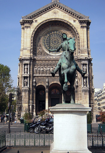 2009.09.28.02 PARIS - place St Augustin - Jeanne d'Arc et l'église St Augustin