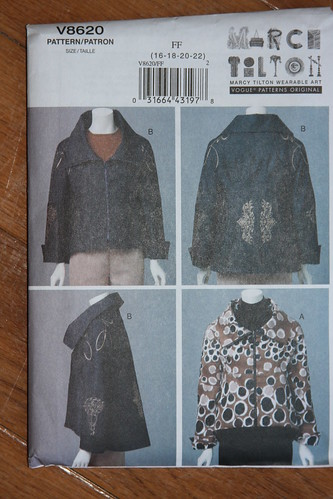 Vogue pattern 8620 Tilton jacket
