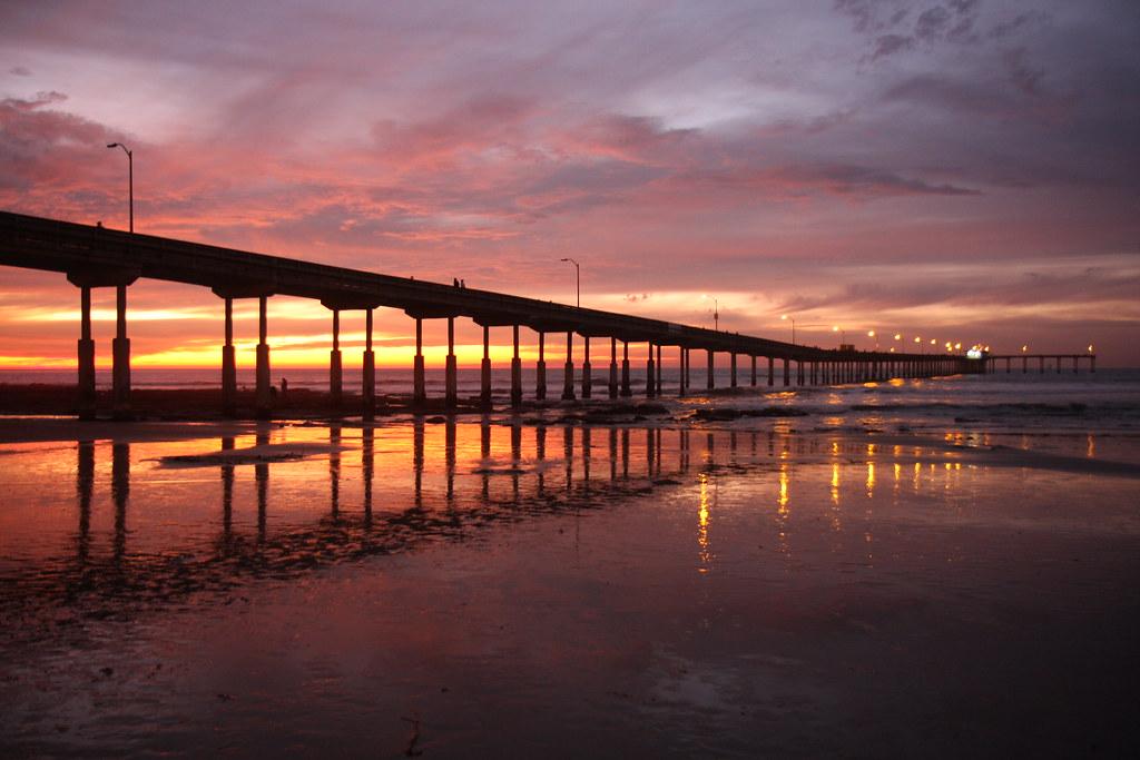 Ocean Beach Pier at Sunset